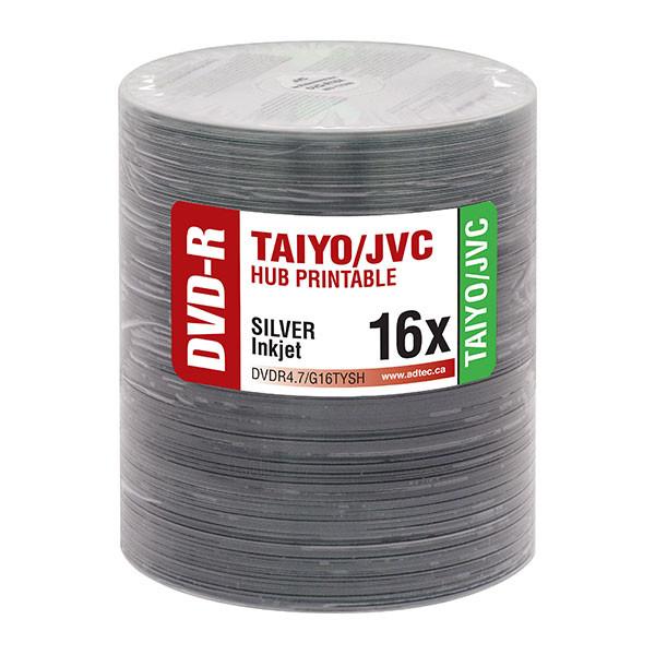 Taiyo Yuden JVC DVD-R 16x Silver Hub Inkjet Printable 100pk