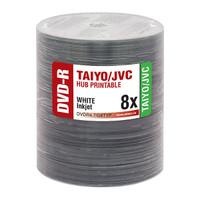 Taiyo Yuden JVC DVD-R 8x White Inkjet Hub Printable 100pk