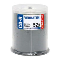 Verbatim CDR Shiny Silver 100pk