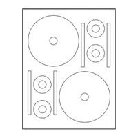 Adtec Labels 2 Up Stomper Full Face CD-DVD 100pk