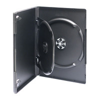 Adtec DVD Box Black 2 Disc with Flip Tray 10pk