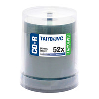 Taiyo Yuden JVC CDR White Inkjet Standard Printable 100pk