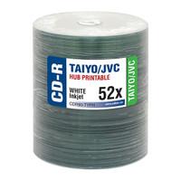 Taiyo Yuden JVC CDR White Inkjet Hub Printable 100pk
