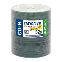 Taiyo Yuden JVC CDR Value Line White Inkjet Hub Printable 100pk