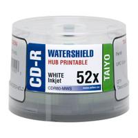 JVC Taiyo Yuden CDR 52x Watershield White Inkjet Hub Printable 50pk