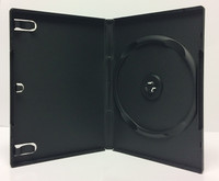 Black single 14mm Machine-Grade DVD box with snap release hub - Carton of 100