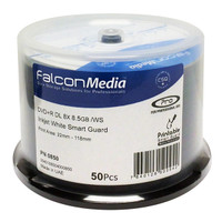 Falcon DVD+R Dual Layer Smart White Inkjet Hub Printable Gloss (850) - SALE PRICE IN EFFECT ONLY WHILE SUPPLIES LAST