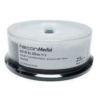 Falcon 25GB White Inkjet Hub printable 6x Blu-ray (Basic) - 25 pack (540) - SPECIAL PRICE
