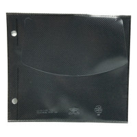 UniKeep Disc Wallet Safety-Sleeve Black Pages 50 pack - PRICED TO CLEAR