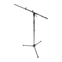 Brand Name Tripod Base Microphone Stand w/ Telescoping Boom Arm - Black