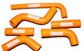 KTM 400 EXC 525 Radiator Hose Kit Pro Factory Hoses ORANGE 03 06