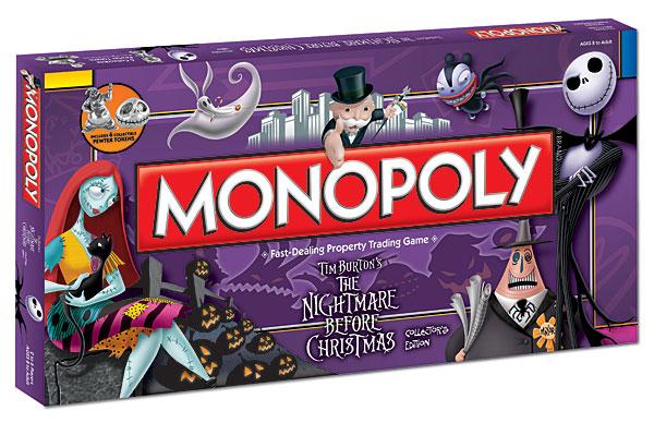 Tim Burton's Nightmare Before Christmas Monopoly