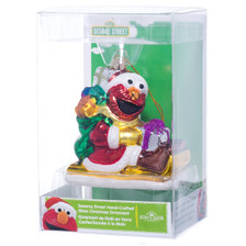 Sesame Street Elmo Glass Christmas Decorations