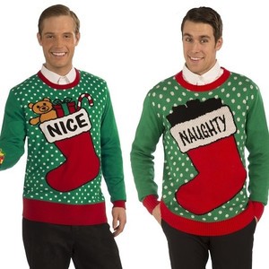 Naughty and Nice Ugly Christmas Sweaters
