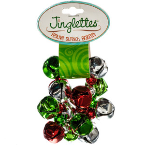 Jinglette Christmas Bracelet green red package