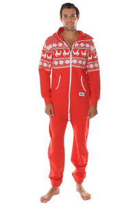 Red Christmas Jumpsuit - Reindeer Games