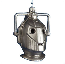 Doctor Who Cyberman Hand-Crafted Glass Christmas Tree Ornament