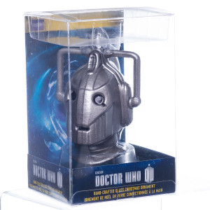Doctor Who Cyberman Glass Christmas Ornament