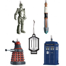 Doctor Who Set of 5 Christmas Tree Ornaments