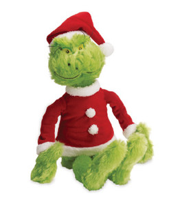 Dr. Seuss' How The Grinch Stole Christmas Grinch in Santa Suit Plush Toy