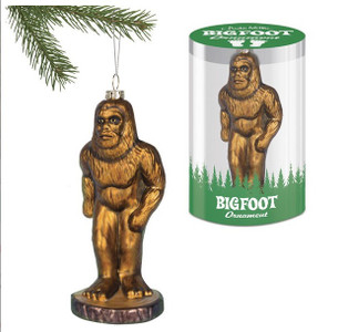 Bigfoot Glass Christmas Tree Ornament