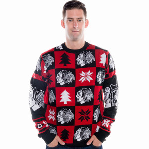 Chicago Blackhawks Ugly Christmas Sweater NHL 2016 (Front)