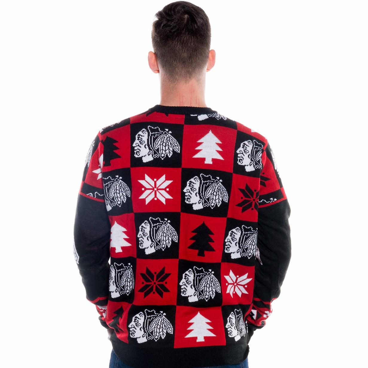 Chicago Blackhawks Ugly Christmas Sweater NHL 2017 | RetroFestive.ca