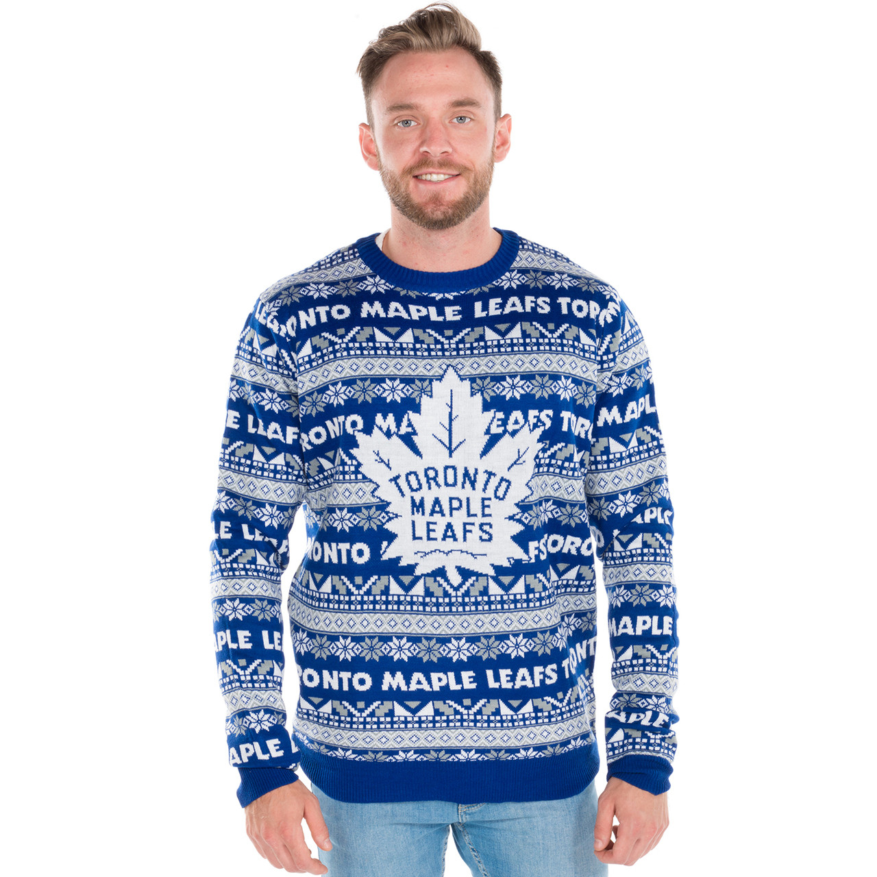 Toronto Maple Leafs Ugly Christmas Sweater NHL 2016 | RetroFestive.ca