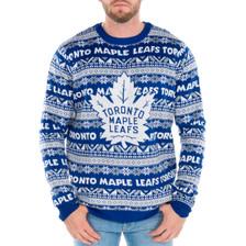 Toronto Maple Leafs Ugly Christmas Sweater NHL 2017 Big Logo