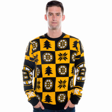 Boston Bruins Ugly Christmas Sweater NHL 2016 (Front)
