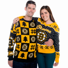 Boston Bruins Ugly Christmas Sweater NHL 2016 (Couple)