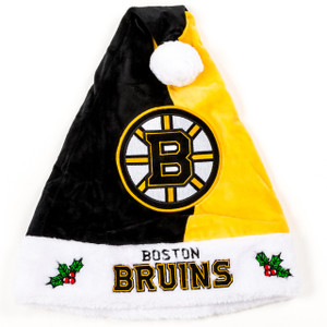 NHL Boston Bruins Christmas Plush Santa Hat