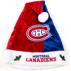 Montreal Canadiens Plush Santa Hat