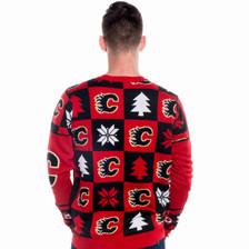 Calgary Flames Ugly Christmas Sweater NHL 2016 Back