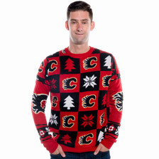 Calgary Flames Ugly Christmas Sweater NHL 2016 Front