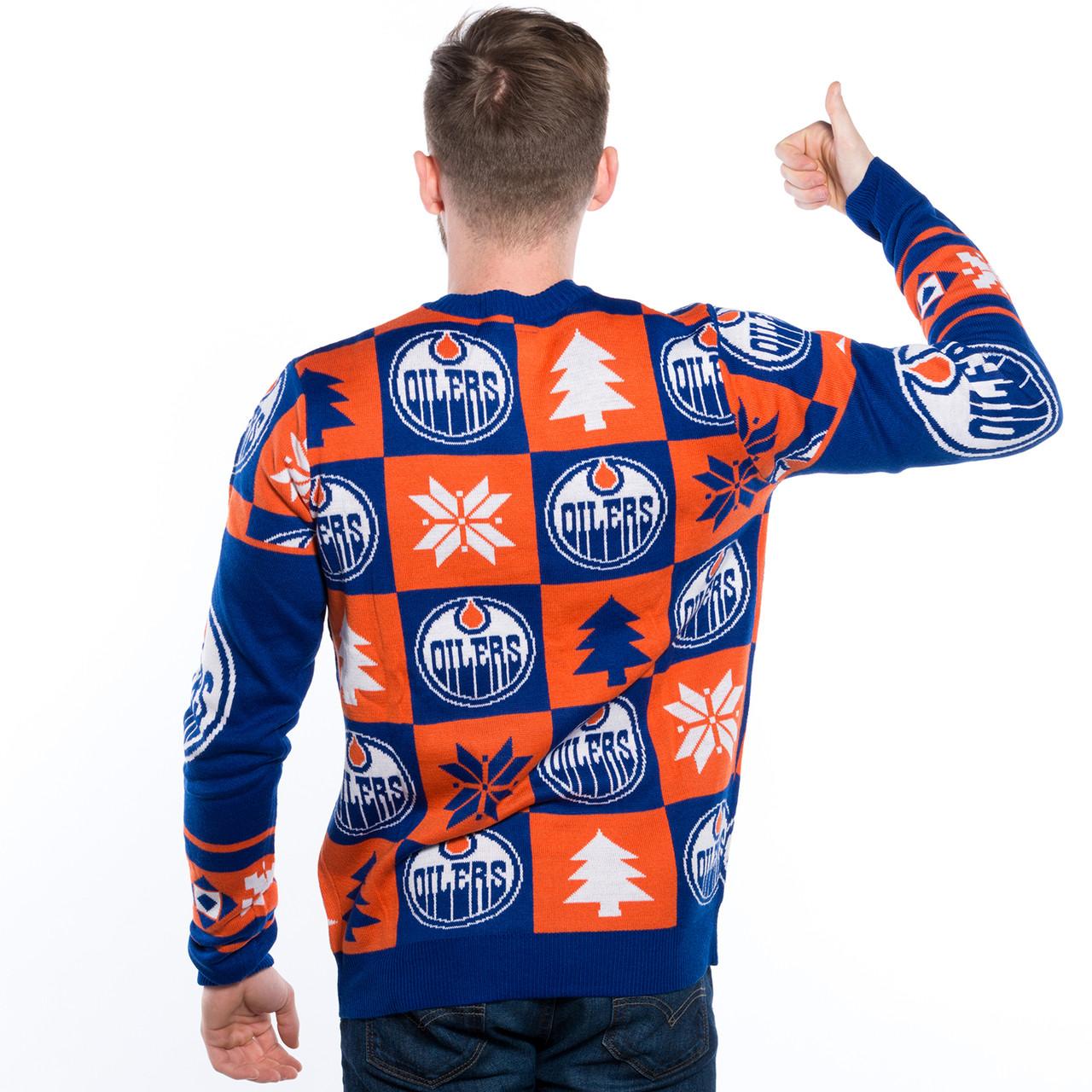 Edmonton Oilers Ugly Christmas Sweater NHL 2017 | RetroFestive.ca