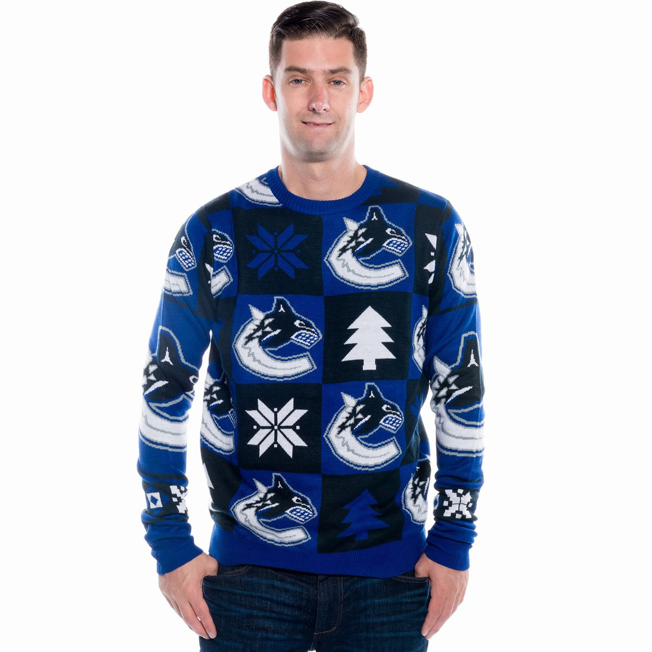 Vancouver Canucks Ugly Christmas Sweater 2016 (Back)