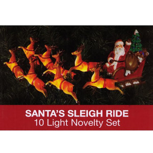 Christmas Vacation Santa's Sleigh Ride 10 Light Novelty Set