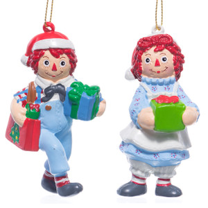 Raggedy Ann & Andy Christmas Tree Decorations