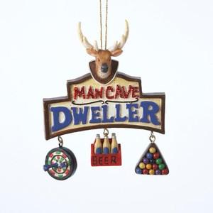Man Cave Dweller Christmas Tree Ornament