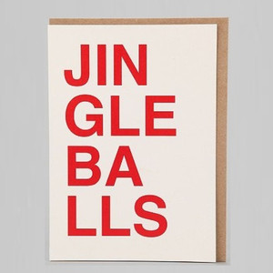 Jingle Balls Holiday Card