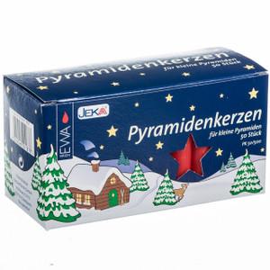 German red pyramid candles box of 50