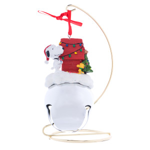 Peanuts Jingle Bell Ornament and stand