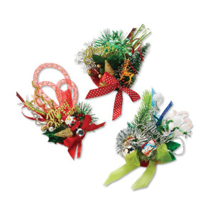 Ugly Christmas Holiday Corsage Pins - 3 Styles