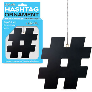 Plastic hashtag Christmas Tree Ornament