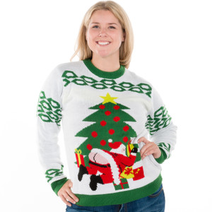 Butt Crack Santa - Ugly Christmas Sweater 4