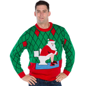 Crapper Claus Ugly Christmas Sweater
