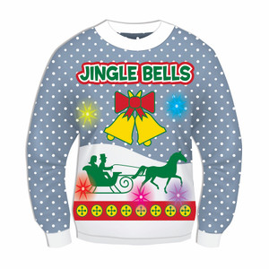 Jingle Bells Sweater with Lights and Sound