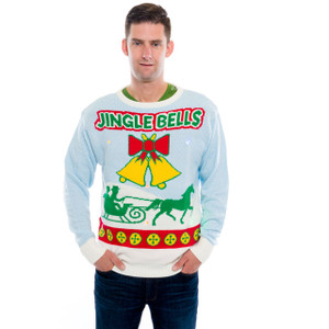 Jingle Bells Sweater with Lights and Sound on Him