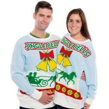 Jingle Bells Sweater with Lights and Sound Couple